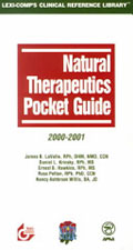 Natural Therapeutics Pocket Guide, 2000-2001